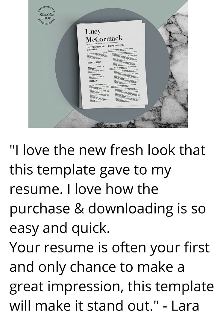The Modern Millennial Resume Bundle | Stand Out Shop | RESUMES ...