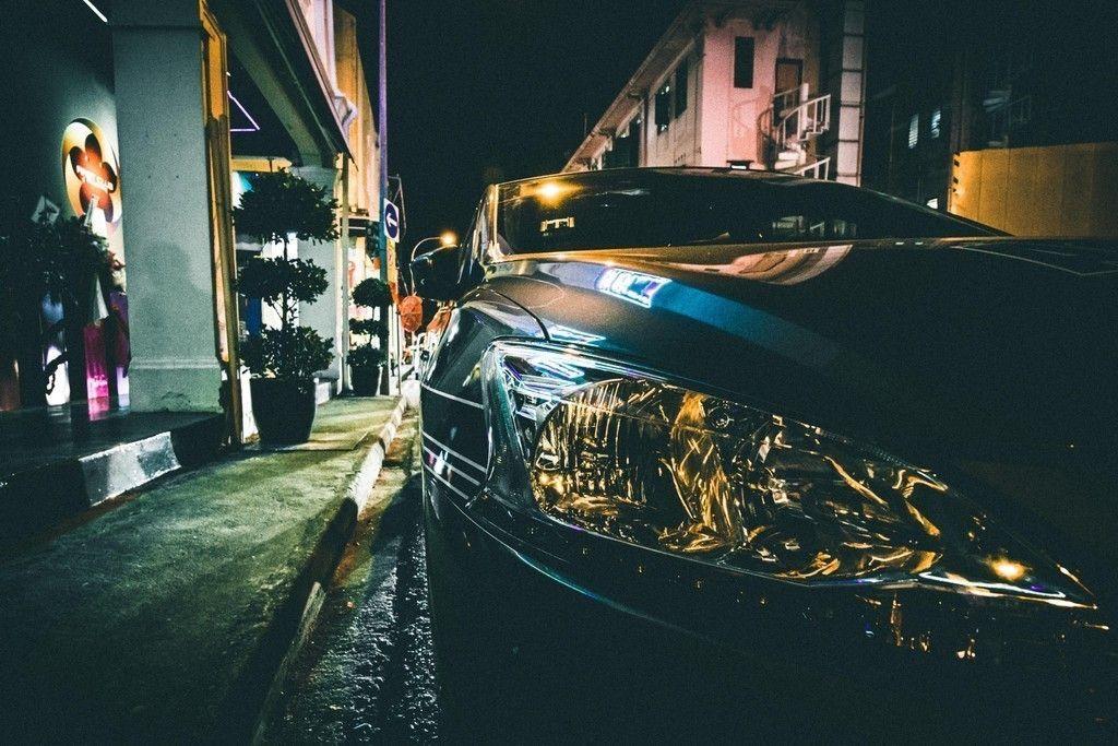 Car Headlight Night Street Wallpaper Cars Wallpapers Car
