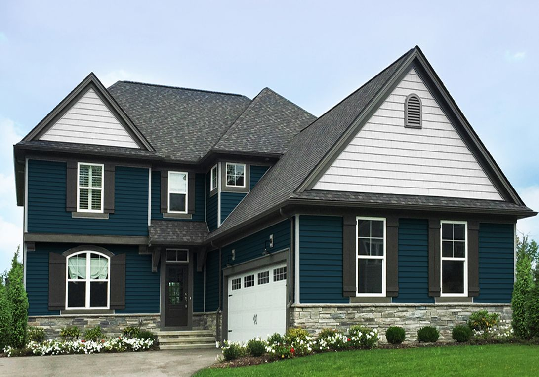 Kp Vinyl Siding Color Urban Blue Is A Sophisticated Shade That