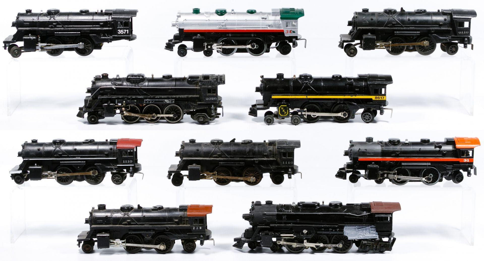 Lot 281 Lionel Model Train Steam Locomotive Assortment Ten O Gauge Metal Locomotives Including Two Scout 2 4 2 Locomo Model Trains Locomotive Halloween Train