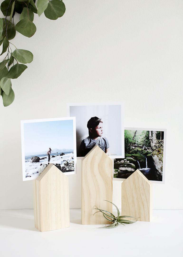 DIY House Photo Display | Bilderrahmen, Holz und Diy holz