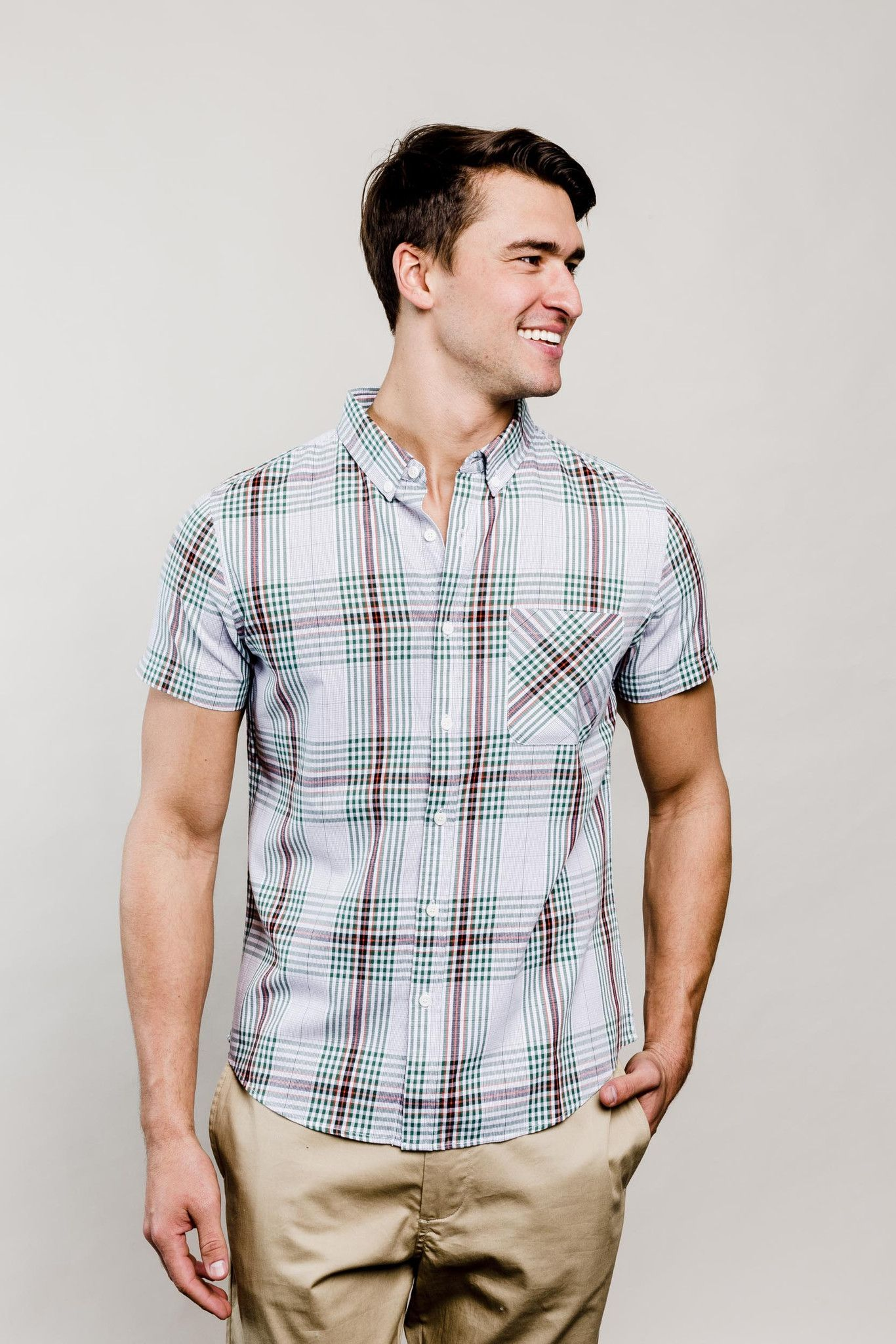 Flannel shirt and shorts men  Thunderhead Plaid Button Down  Products  Pinterest  Plaid and