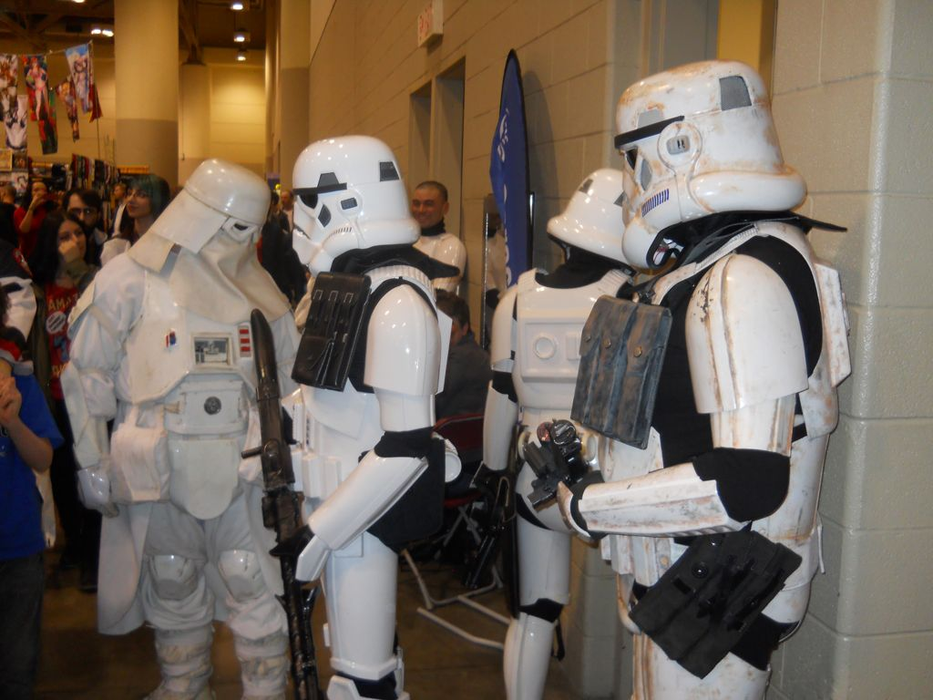 Stormtroopers looking for the bathroom. At Toronto ComiCon 2013.