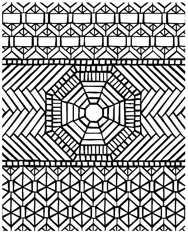 Traditional Pattern Mandala Mosaic Coloring Page By Years