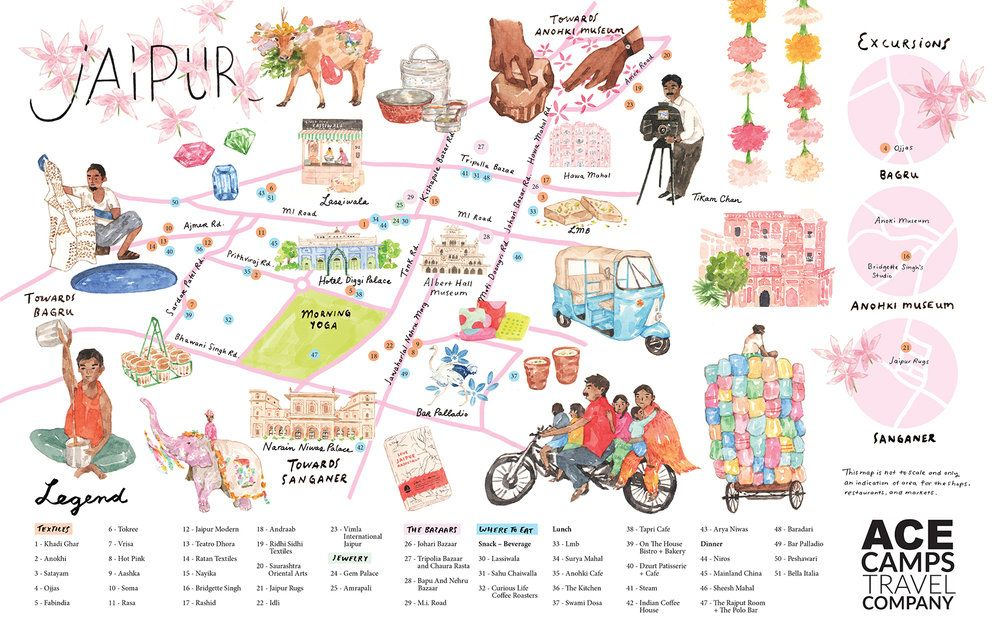 Map of Jaipur Urban Foodie Sketches Pinterest Jaipur