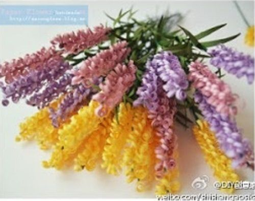 Flores Tipo Espigas De Papel Ideas Para Decoracion