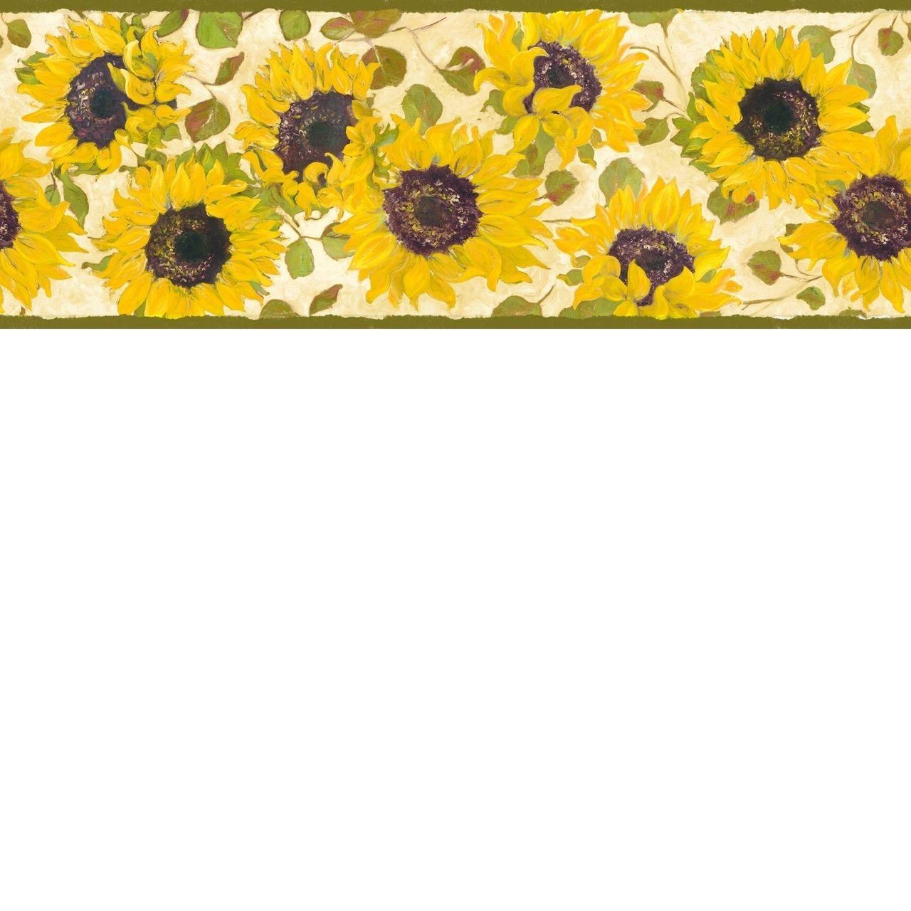 Papermywalls Family Friends Summer Fields Sunflowers Wallpaper Border Ffr65411b