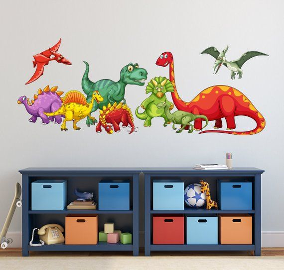 DINOSAURS Boys Bedroom Kids Wall Art Decals Stickers furniture stickers
