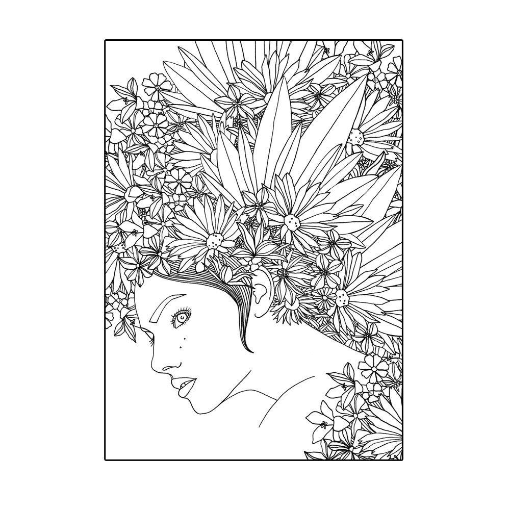 Calendula Poster A4 By Hanna Karlzon Shop Coloring Pages Coloring Books Blank Coloring Pages