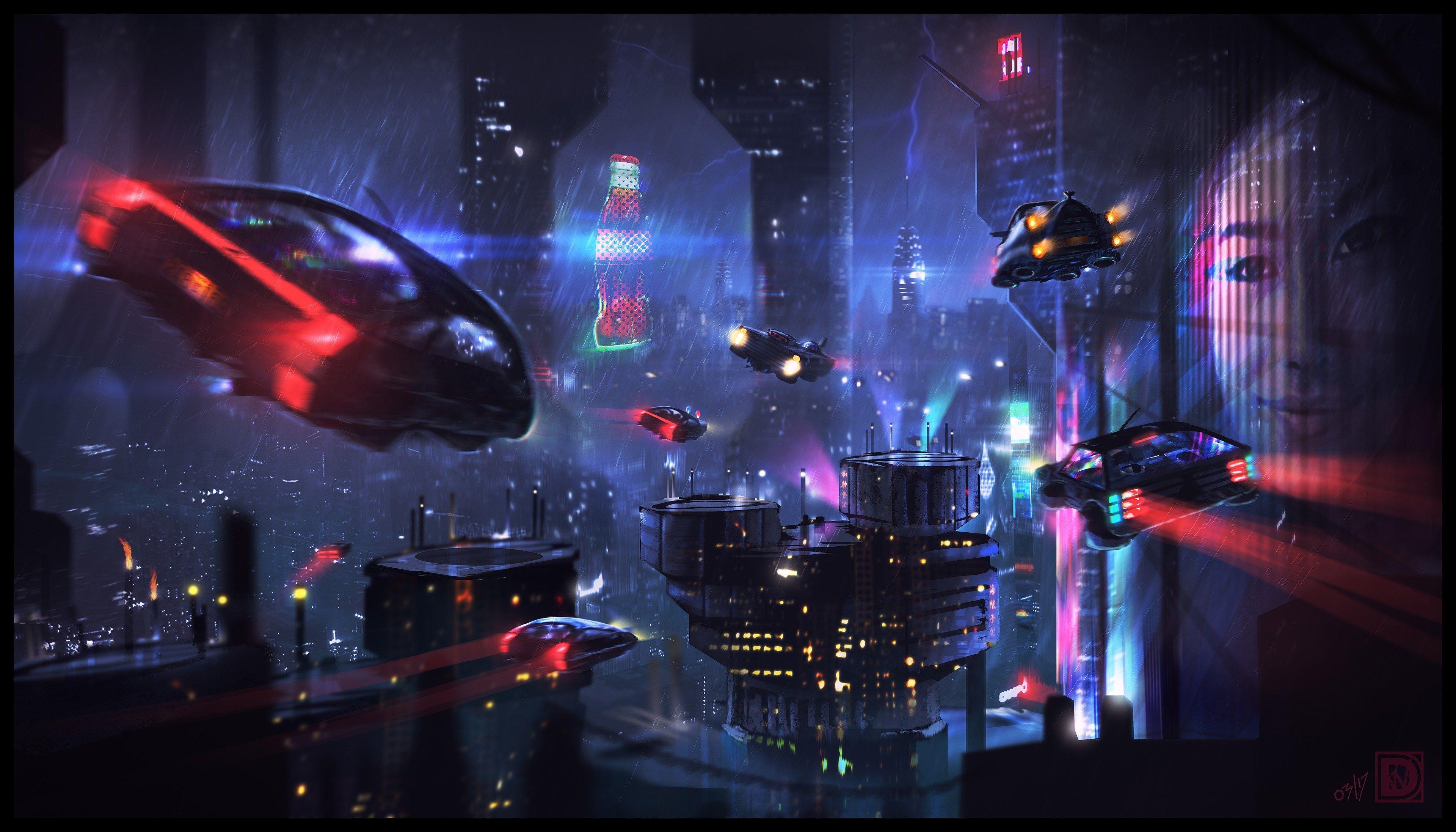 3840x2193 Artist 4k High Res Wallpaper Cyberpunk City Blade Runner Wallpaper Blade Runner
