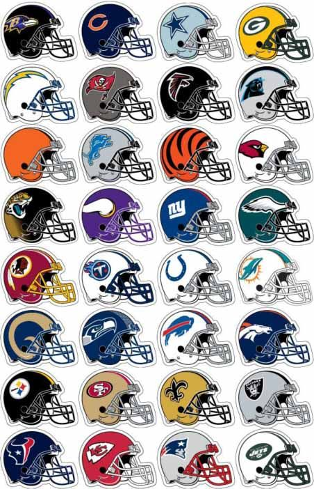nfl football helmet stickers clipart sport printables crafts rh pinterest com nfl clipart nfl clipart