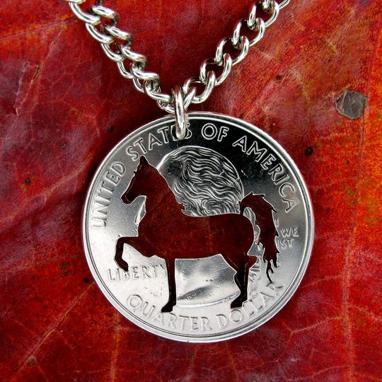 Dressage up your favorite equestrian this holiday with this horse and rider inspired necklace.