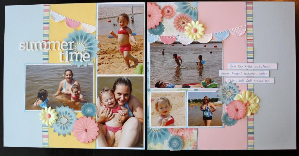by Julia G..... a cute layout using old CTMH Tickled Pink papers.... (I still have this paper, LOL!)