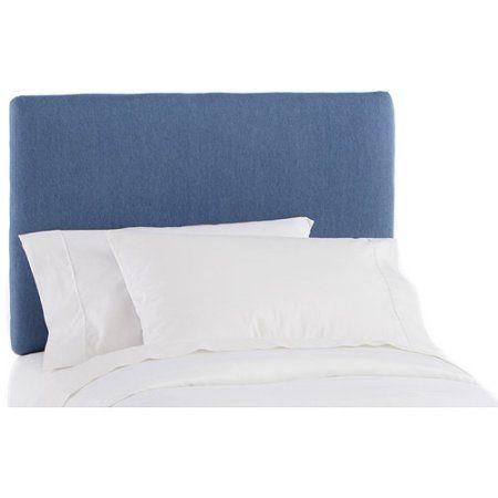 Skyline Furniture - Twin Upholstered Headboard, Denim, Blue