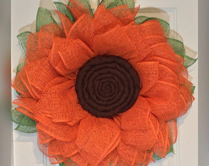 Photo of Sunflower Wreath – Flower Wreath – Fall Wreath – Spring Wreath – Easter Wreath – The Whispering Wreath