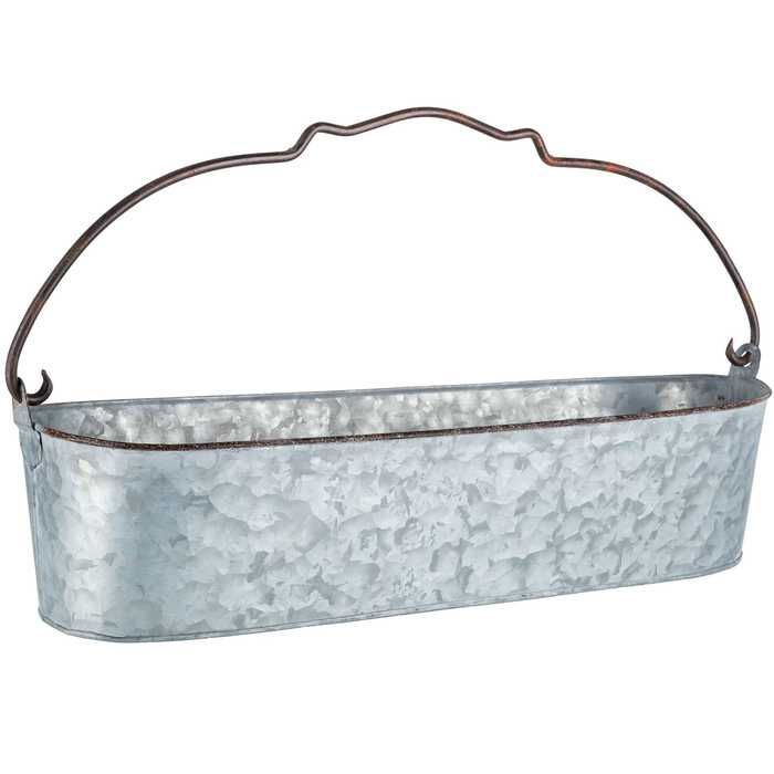 Galvanized Metal Oval Bucket Galvanized Metal