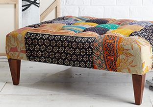 Plush & Patterned: Seating & Rugs -   Prints are the spice of life. You can sprinkle them throughout your space to create a unique and surprising style to showcase. A patterned rug can break up a monochromatic floor, while a printed bench or chair can help liven a living room or entryway. No matter which piece you choose, be...  #Bed, #Bench, #Chair, #Cushion, #Frame, #Mat, #Ottoman, #Rug, #Tie