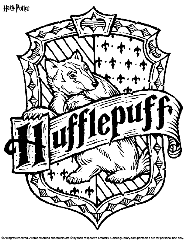 Harry Potter Slytherin Crest Coloring Pages harry potter coloring page ...