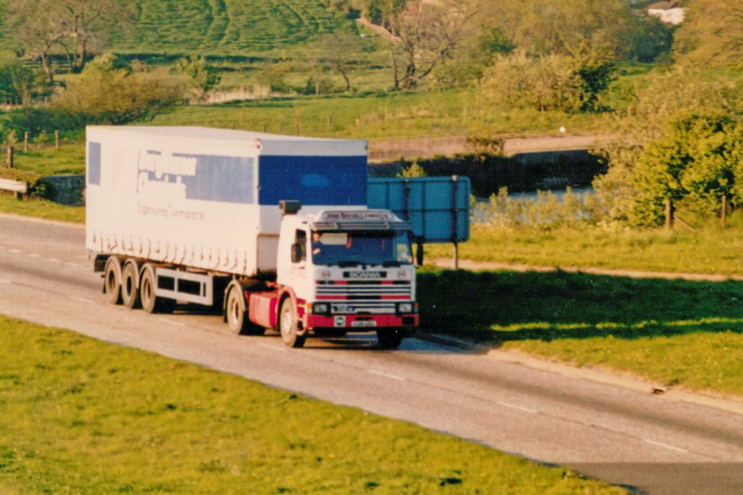 John Russell Scania on A80