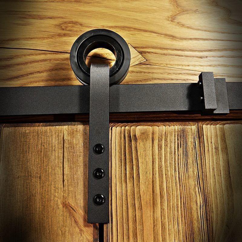 Barn Door Hardware Slide Rail System For Sliding Door Wheel On Hanger Loftmarkt Sliding Door Wheels Sliding Door Systems Sliding Doors