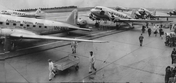 DC-3s at Essendon Airport.