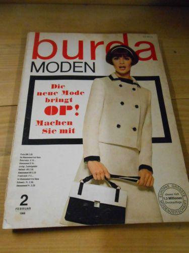 Alte Zeitschrift, Burda Moden, Nähen, Schnittmuster, 1966 | eBay ...