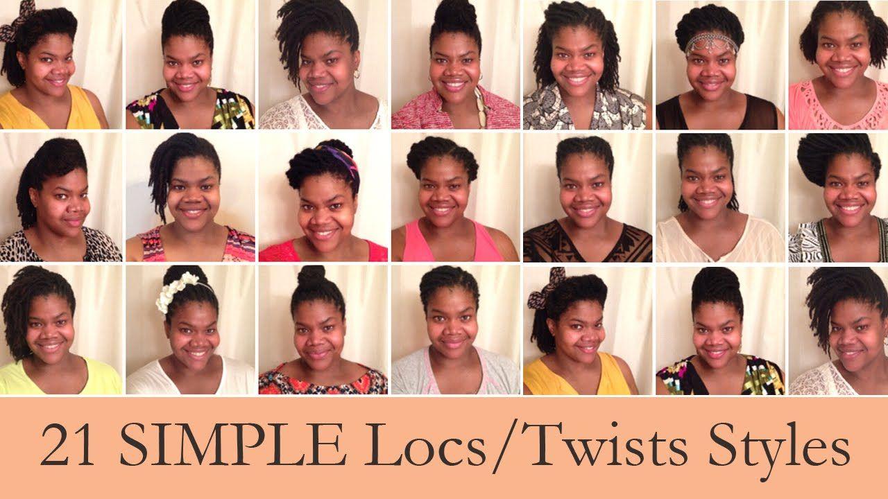 21 Super Simple Styles For Starter Locs Short Medium Locs And Twists Locs Loc Styles Hair Styles