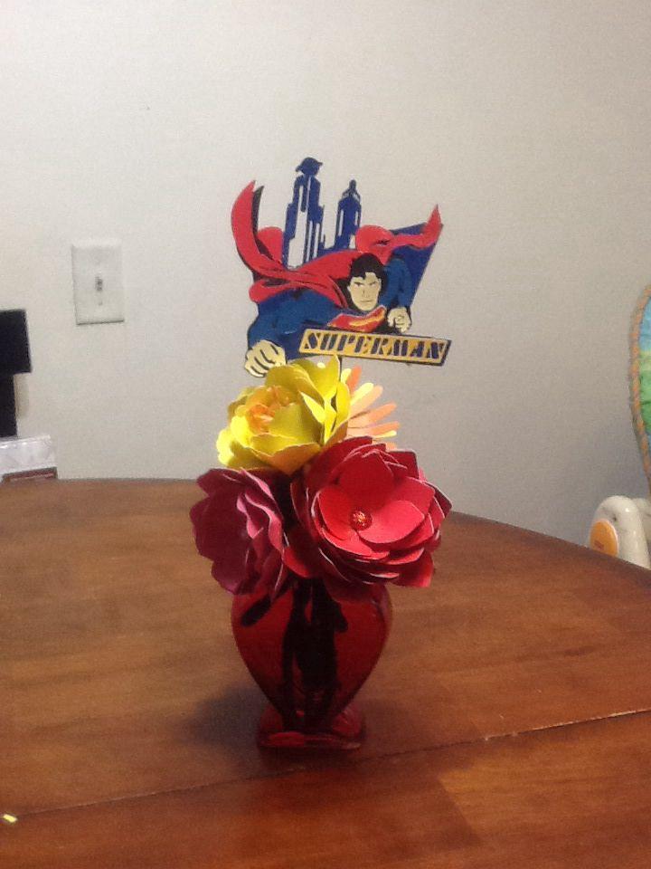 Superman Flower Arrangement Flowers Valentines Superman
