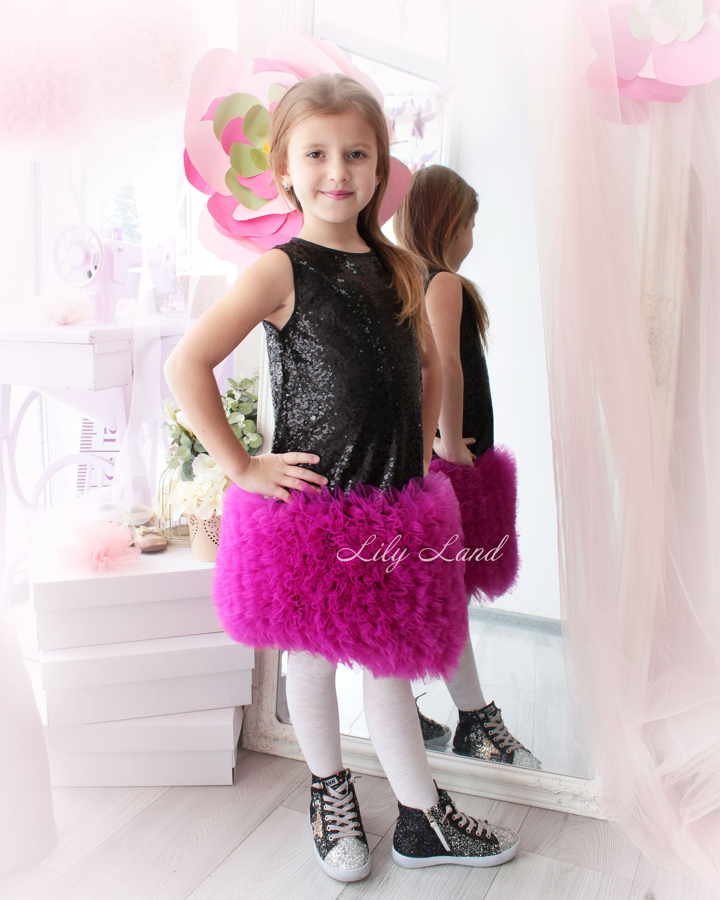 Girls birthday black sequin dress Tutu dress birthday dress Baby ...