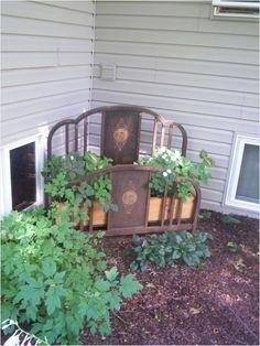 Image Result For Using Metal Bed Frame In Yard Art Outdoor