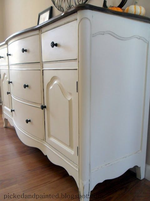 picked painted custom tv console own recipe chalk paint