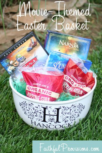 How to make easter baskets easier try a movie themed easter how to make easter baskets easier try a movie themed easter basket negle Images