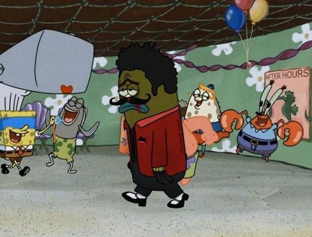 The Weeknd After Hours Spongebob Meme After Hours The Weeknd Memes The Weeknd Poster