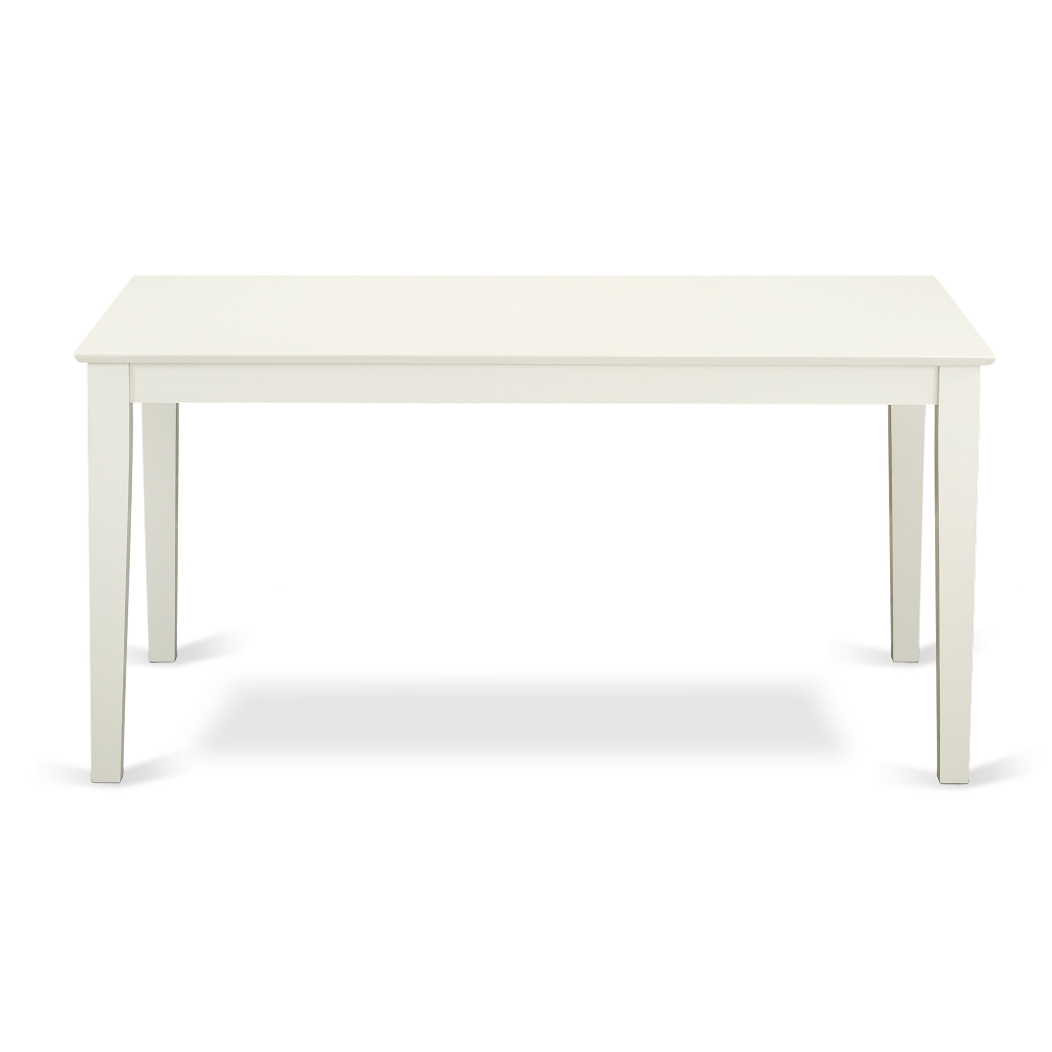 Capri Rectangular Dining Table 36 X60 With Solid Wood Top In Linen White Finish Off White Antique Dining Room Table Antique Dining Rooms Dining Room Table Set
