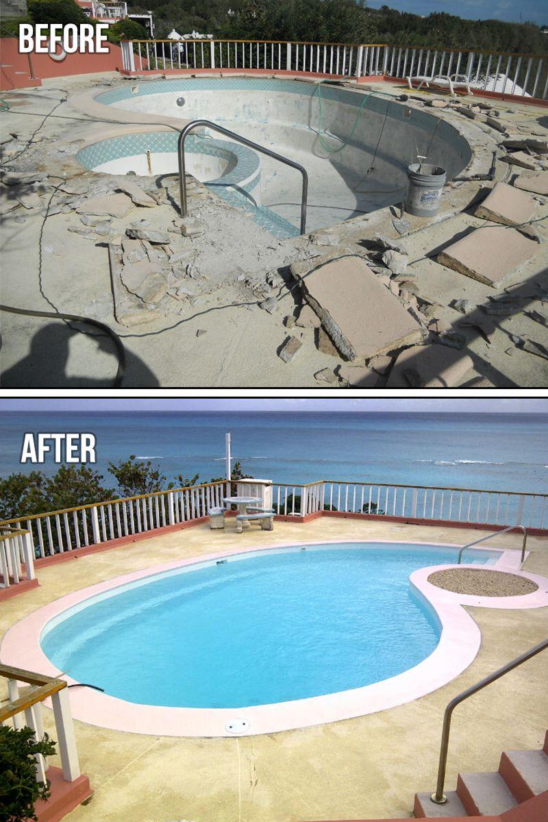 Diy Repairing And Resurfacing Swimming Pool Swimming Pool