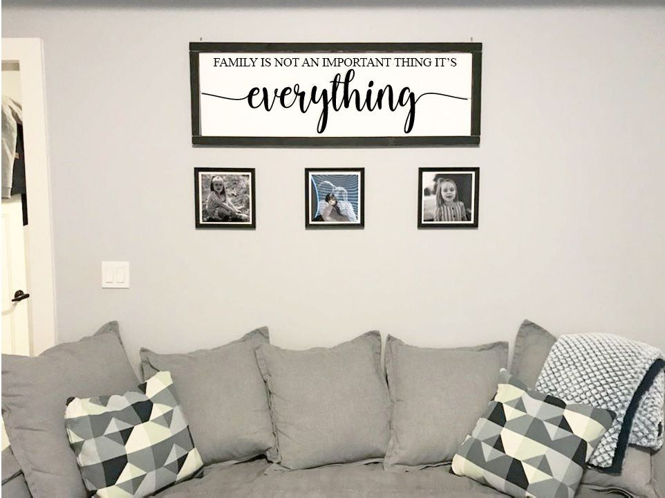 Family Is Not An Important Thing It S Everything Large Rustic Living Room Decor Sign 47 Or 5 Ft Farmhouse Living Room Decor Dining Room Farm #rustic #signs #for #living #room