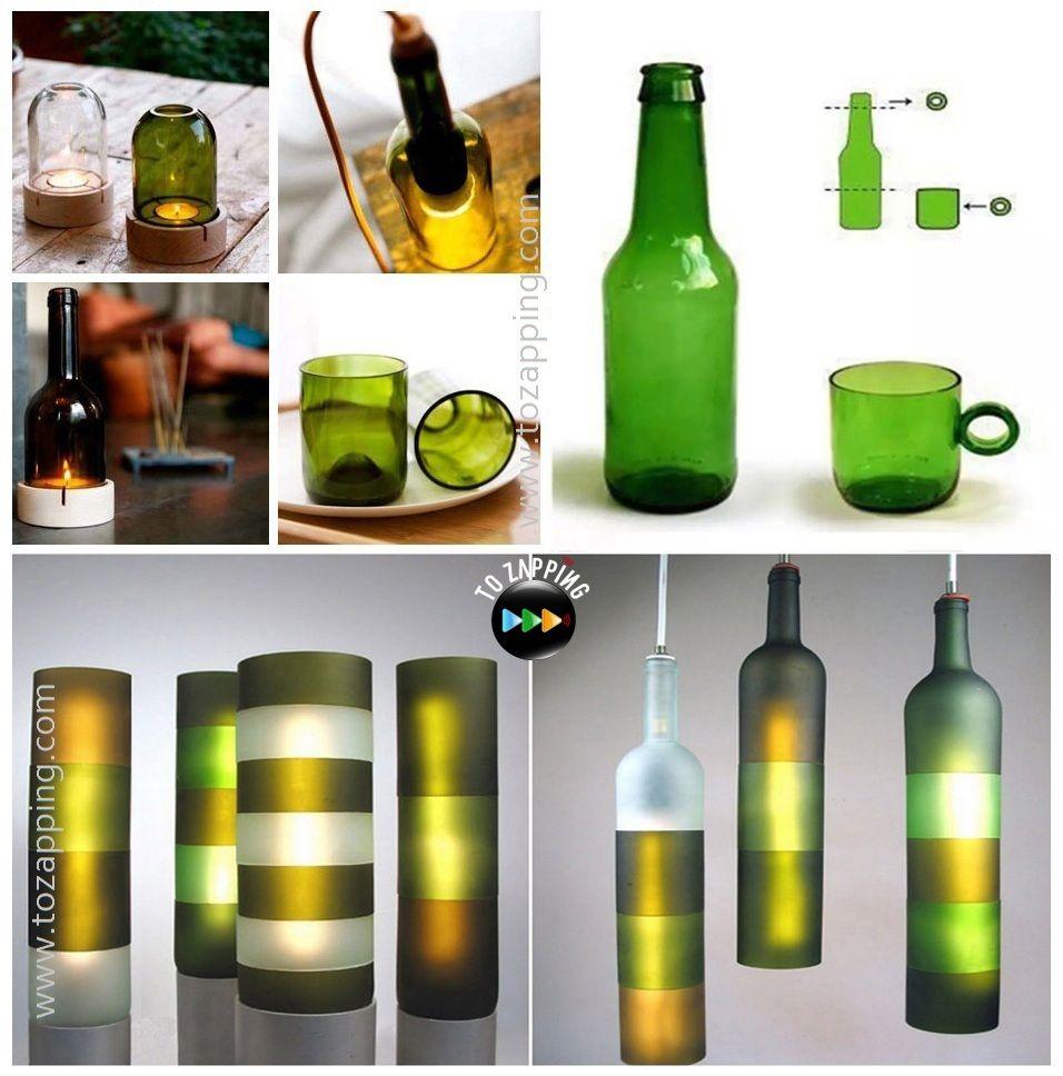 C mo cortar unas botellas de vidrio - Como cortar botellas de vidrio ...