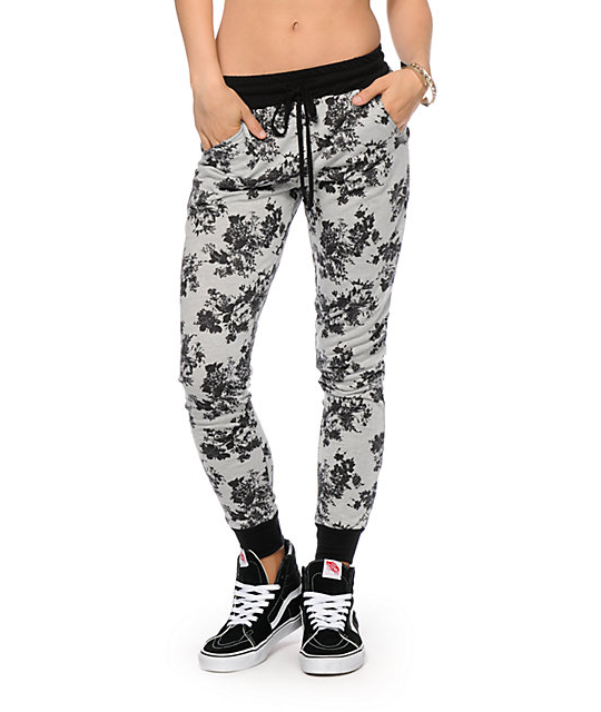 5256d1cf329eb Empyre Exploded Floral Jogger Pants | Pajamas!!! | Jogger pants ...