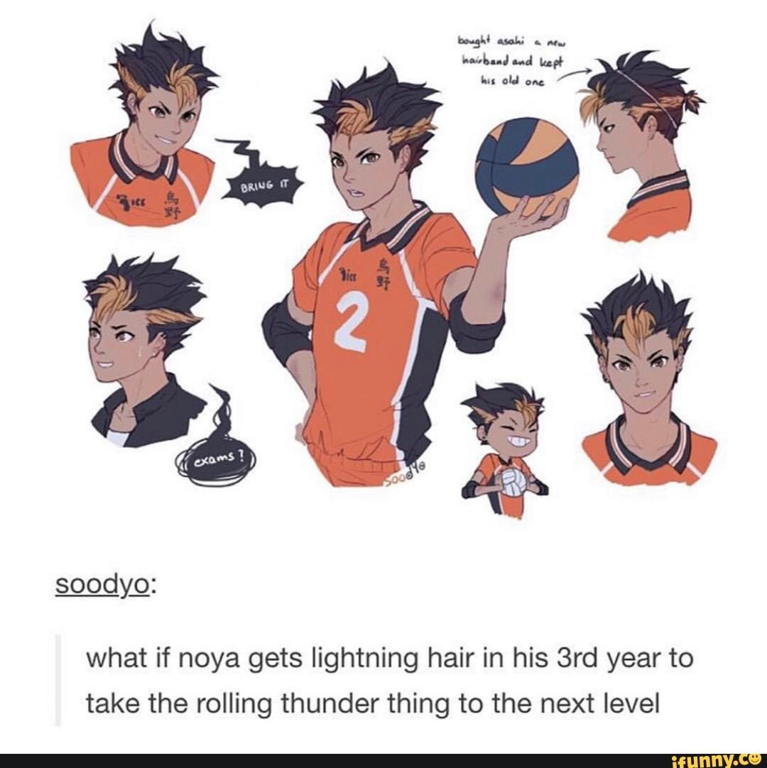 Photo of What if noya gets lightning hair in his 3rd year to take the rolling thunder thing to the next level – iFunny :)