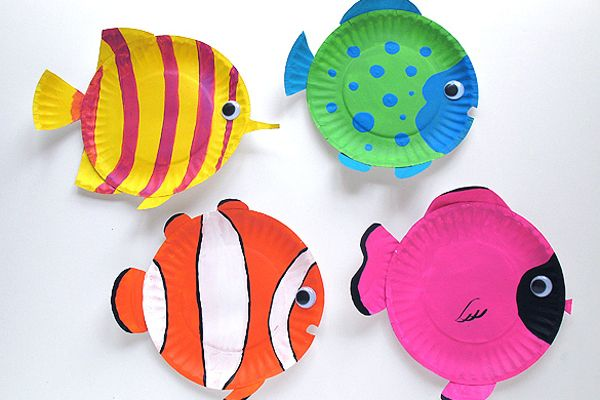 Mills ocean theme for 2012 Great paper plate tropical fish craft idea - great for an under the sea display! & 7 Crafts for Kids this Summer...you are my sunshine craft | Just for ...