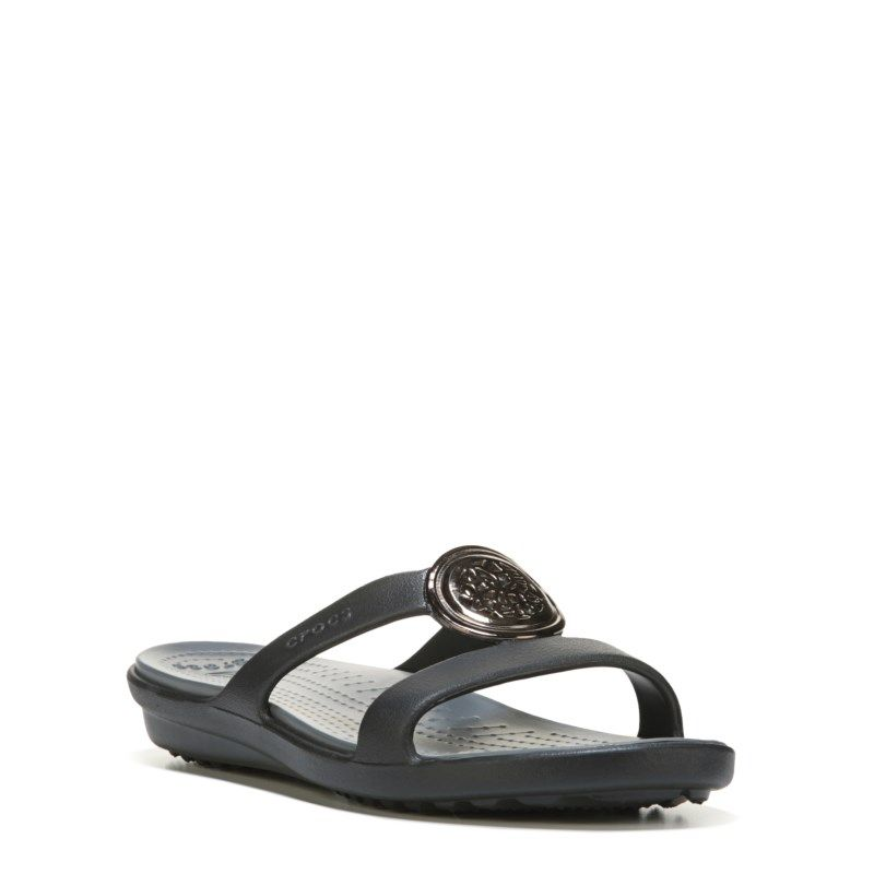 fbd32c675adc Crocs Women s Sanrah Circle Sandals (Black Charcoal) - 11.0 M