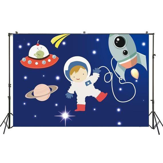 Geburtstag Hintergrund Jungen Astronaut Geburtstagsfeier Feier Dekor Banner Fotografie Hintergrund Studio Foto Hintergrund Requisiten W2256  Products
