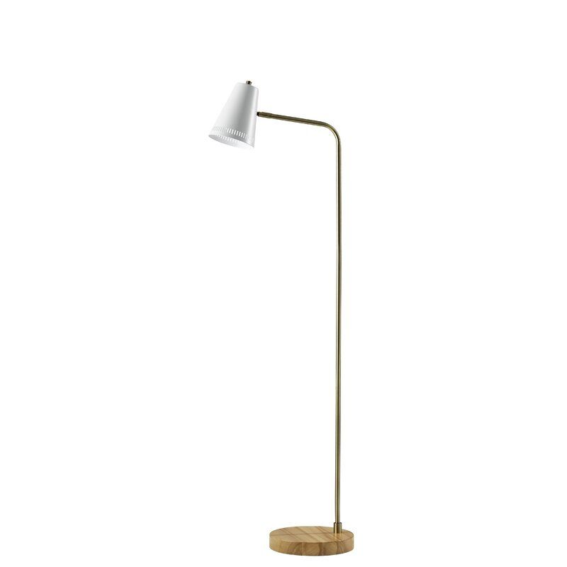 Mid-century arc lamp with cast steel base and telescoping arm