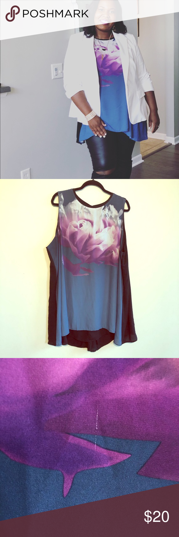 Photo of 🔵 Alfani Bold Floral Swing Tank Blouse Want to make a statement? Want an eas…