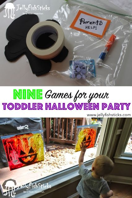 DIY Toddler Halloween Party Games Age Two 2 #toddlerhalloween