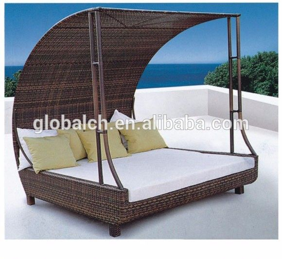 Outdoor sun bed, synthetic lujo canopy sun bed, wicke tejer sol ...