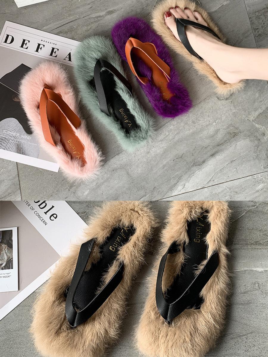 Tiosebon Faux Fur Slippers Lz 25 23 Faux Fur Slippers Fur Shoes Slippers