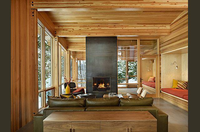 Modern Cabin Interior Design Cabin Interior Design Minimalist Of Lake Wenatchee Cabin  Maine