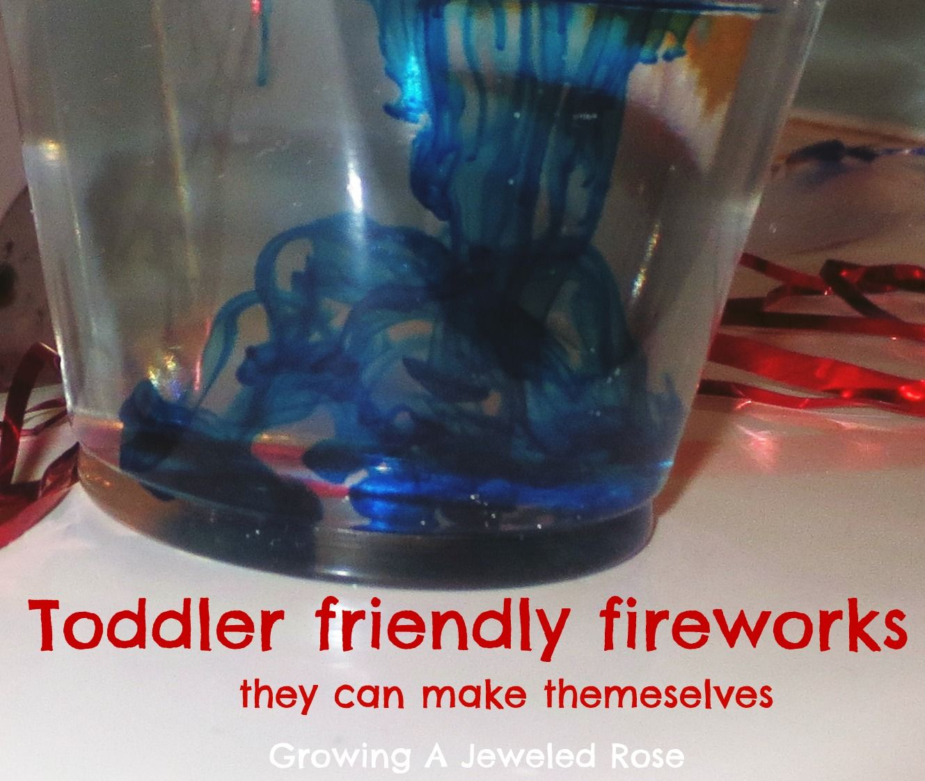 Toddler made firework display- fun and simple