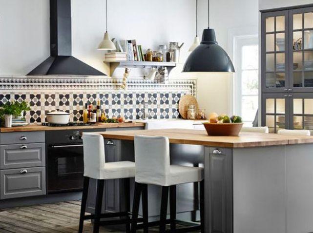 Les carreaux de ciment ne prennent pas une ride elle décoration cuisine aménagéemeuble